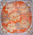 Fleurs de Lotus 1976 Christiane Vauzelles grey orange